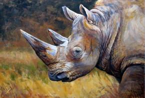 """""""Rhino""""2012, 42x60cm, akryl na płycie"""